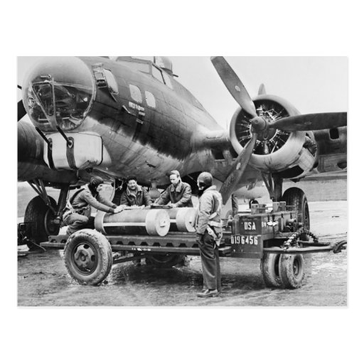 WW2 Airplane and Crew: 1940s Postcards