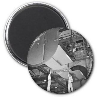 WW2 Airplane Factory, 1940s 2 Inch Round Magnet