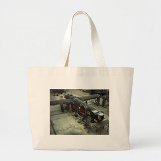 WW2 Airplane Factory, 1940s Large Tote Bag