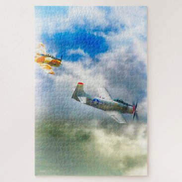 WW2 Airplanes AIR FORCE RAIDERS Jigsaw Puzzle