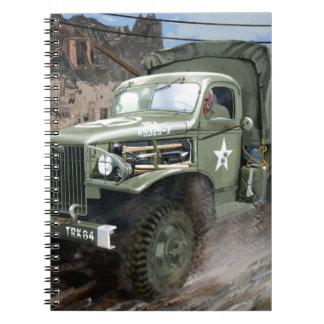 WW2 American Army Truck Spiral Notebooks