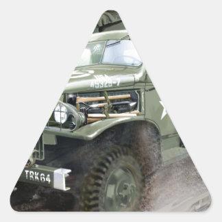 WW2 American Army Truck Triangle Sticker
