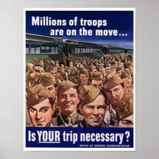 WW2 American Troop Transport Poster
