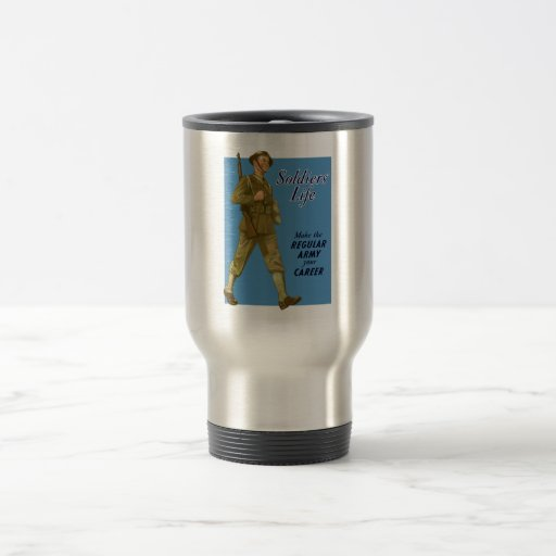 WW2 Army Recruiting Poster 15 Oz Stainless Steel Travel Mug
