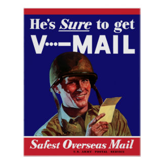 WW2 Army V-Mail Poster