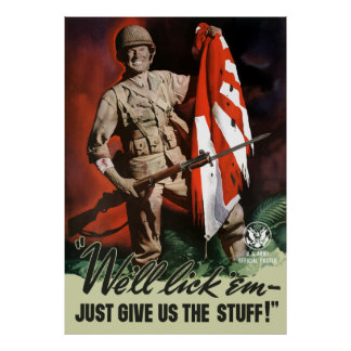 WW2 Army -- We'll lick 'em Poster