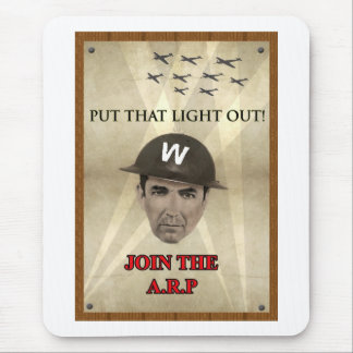 WW2 ARP Recruiting Poster Mouse Pad