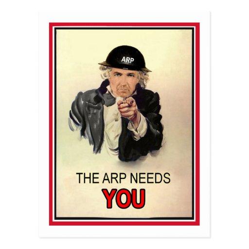 WW2 ARP Recruitment Poster Postcard