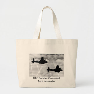 WW2 Avro Lancaster Bomber Large Tote Bag