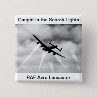 WW2 Avro Lancaster Bomber Pinback Button