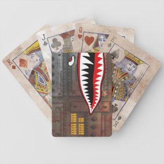 WW2 bomber shark teeth world war plane jet sea coo Bicycle Playing Cards