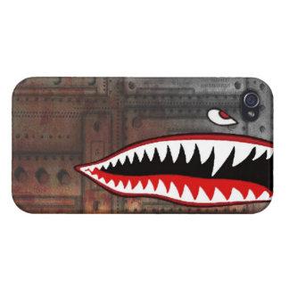 WW2 bomber shark teeth world war plane jet sea coo Covers For iPhone 4