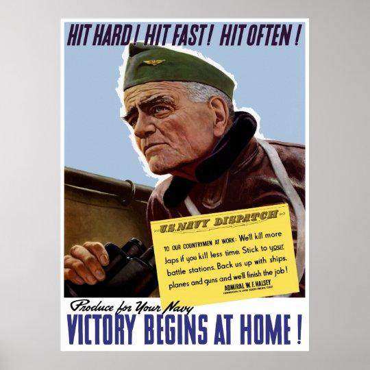 WW2 Bull Halsey Poster