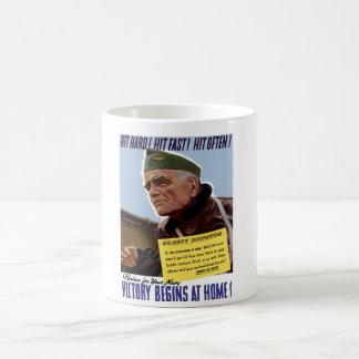 WW2 Bull Halsey Poster Coffee Mug