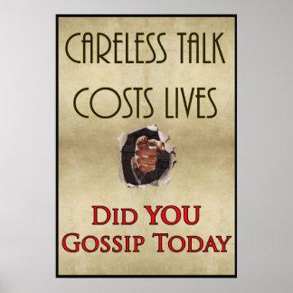 WW2 Careless Talk Propaganda Poster