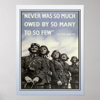WW2 Churchill Quotation Military Veterans Poster