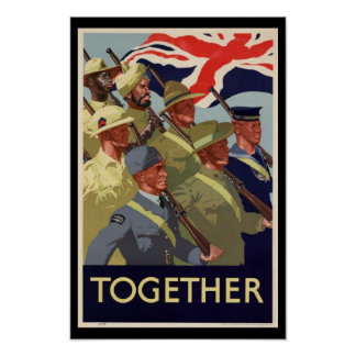 WW2 Commonwealth Together Poster