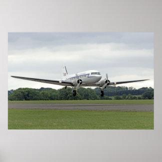 WW2 Douglas DC3 Transport Plane Poster