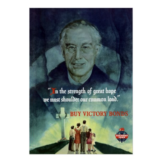Ww2 Quotes: WW2 FDR Quote Poster