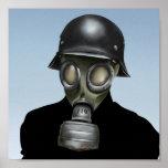 WW2 German Gas-Mask - 8x8 Lowbrow Art Print