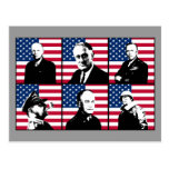 WW2 Heroes and the American Flag Post Card