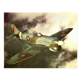 WW2 Historic Wartime Aircraft in Flight Postcard
