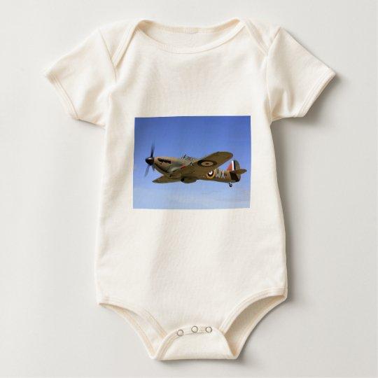 WW2 Hurricane Fighter Plane Baby Bodysuit