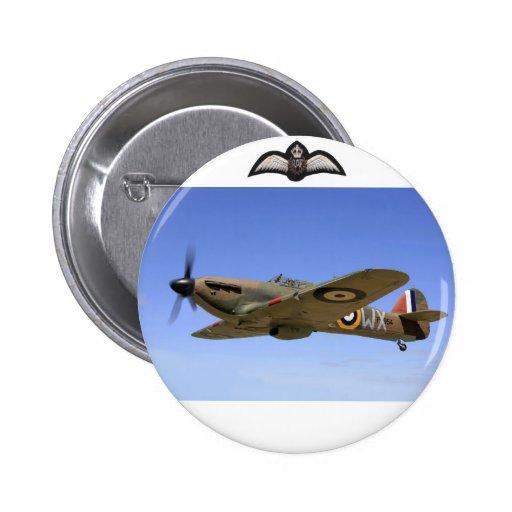 WW2 Hurricane Fighter Plane Button