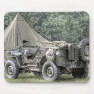 WW2 Jeep Mouse Pad
