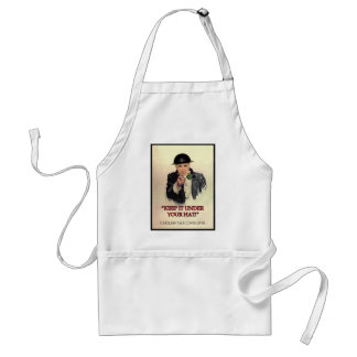 WW2 Keep it Under Your Hat Poster Adult Apron