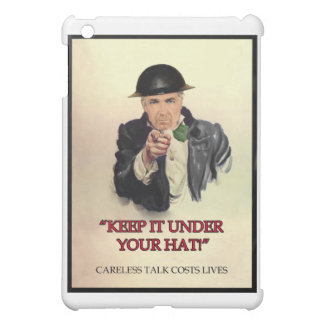 WW2 Keep it Under Your Hat Poster iPad Mini Cover
