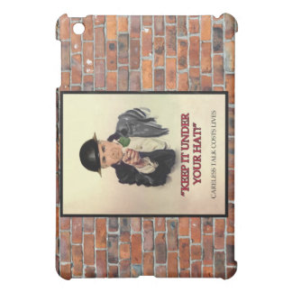 WW2 Keep it Under Your Hat Poster iPad Mini Covers