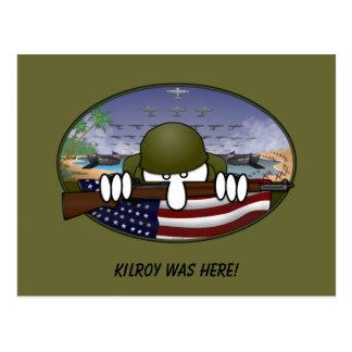 WW2 Kilroy Postcard