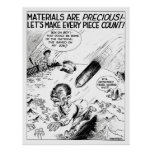 WW2 -- Material Conservation Cartoon Posters