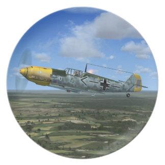 WW2 Messerschmitt ME109 Fighter Plane Plate