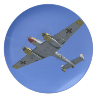WW2 Messerschmitt ME110 Fighter Plane Plate