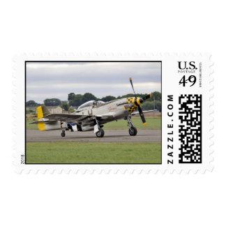 WW2 Mustang Plane Postage
