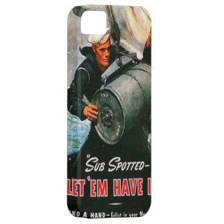 WW2 Navy Submarine Vintage Poster iPhone 5/5s Case