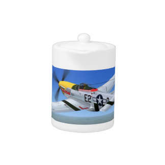 WW2 P51 Mustang Fighter Plane Teapot