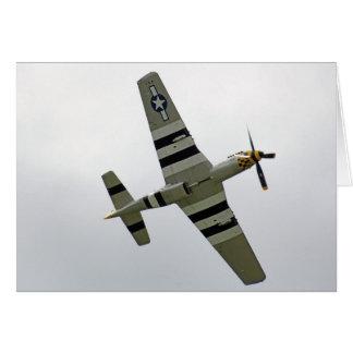 WW2 P51 Mustang Plane Card