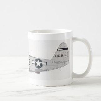 ww2 p-47 taza de café