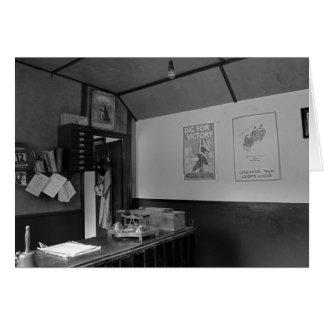 WW2 post office b&w Card