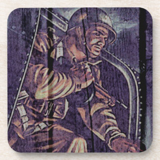 """WW2 Poster """"jump"""" Drink Coasters"""