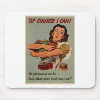 WW2 poster: of course, i can! Mouse Pad