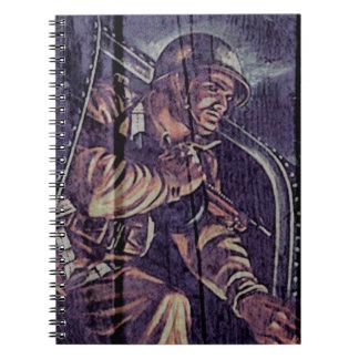 """WW2 poster """"salto """" Libretas Espirales"""
