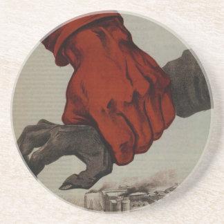 WW2 poster: USSR propaganda Drink Coaster