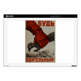 WW2 poster: USSR propaganda Decal For Laptop