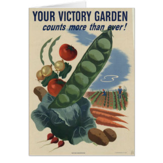 ww2 poster Victory garden Greeting Card