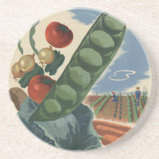 ww2 poster Victory garden Drink Coasters