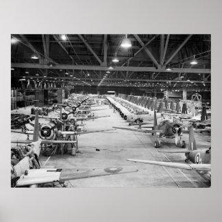 WW2 producción en masa, 1943 Póster
